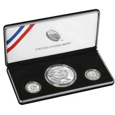 2015 March of Dimes Special Silver Proof 3-Coin Set ASW 0.918 oz (w/Box and COA)