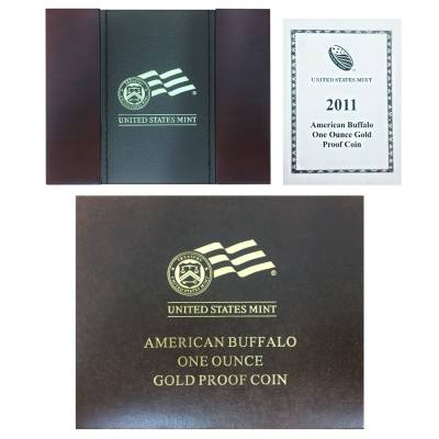 2011 W 1 oz Proof Gold Buffalo $50 Coin (W/Box & COA)