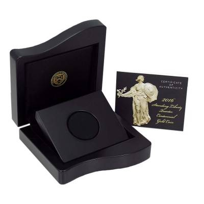 NO COIN - 2016 Standing Liberty Quarter Centennial Gold Coin (OEM Box & COA)