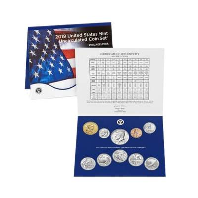 "2019 US Mint Uncirculated 20-Coin Set Comm. (w/o Lincoln ""W"" Uncirculated Penny)"