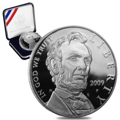 2009-P Abraham Lincoln Proof Silver Dollar (w/Box & COA)