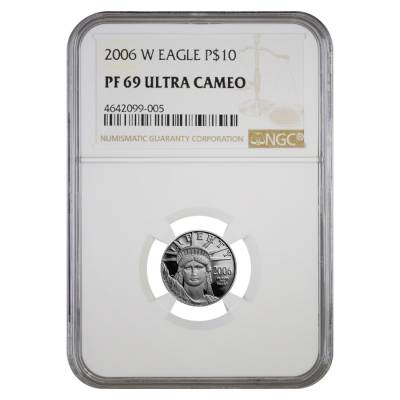 2006 W 1/10 oz $10 Platinum American Eagle Proof Coin NGC PF 69 UCAM