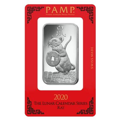 10 gram PAMP Suisse Year of the Mouse / Rat Silver Bar (In Assay)