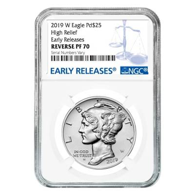 2019-W 1 oz Reverse Proof Palladium American Eagle NGC PF 70 ER