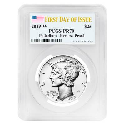 2019-W 1 oz Reverse Proof Palladium American Eagle PCGS PF 70 FDOI