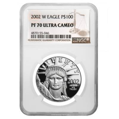 2002 W 1 oz $100 Platinum American Eagle Proof Coin NGC PF 70 UCAM