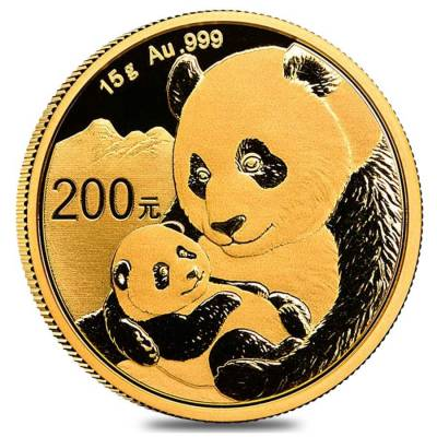 2019 15 gram Chinese Gold Panda 200 Yuan .999 Fine BU (Sealed)