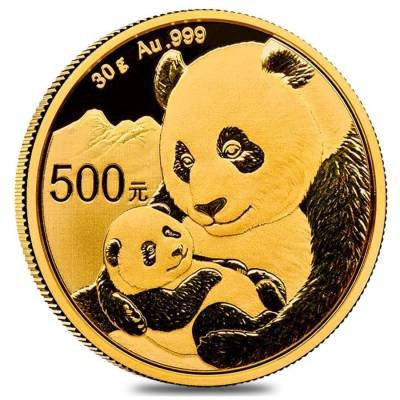 2019 30 gram Chinese Gold Panda 500 Yuan .999 Fine BU (Sealed)