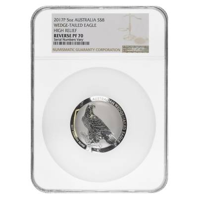 2017 5 oz Silver Australian Wedge-Tailed Eagle High Relief Reverse Proof Coin NGC PF 70