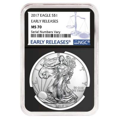 2017 1 oz Silver American Eagle $1 Coin NGC MS 70 Early Releases (Retro)