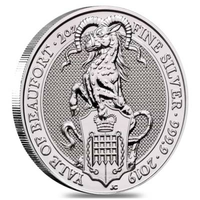 2019 Great Britain 2 oz Silver Queen's Beasts (Yale) Coin .9999 Fine BU