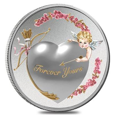 2016 1 oz Niue Silver $2 Forever Yours Proof-Like Coin (w/Box & COA)