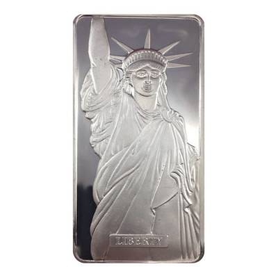 1986 10 oz Engelhard MTB Liberty Trade Silver Vintage Bar .999+ Fine