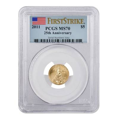 2011 1/10 oz $5 Gold American Eagle PCGS MS 70 First Strike