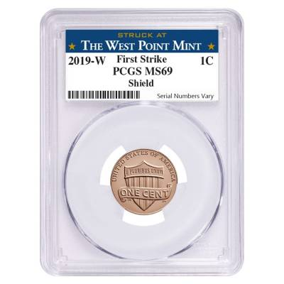 2019 W Uncirculated Lincoln Penny Cent Comm. PCGS MS 69 FS (West Point)