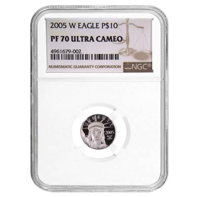 2005 W 1/10 oz $10 Platinum American Eagle Proof Coin NGC PF 70 UCAM