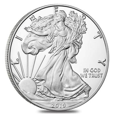 2019-S 1 oz Proof Silver American Eagle (w/Box & COA)