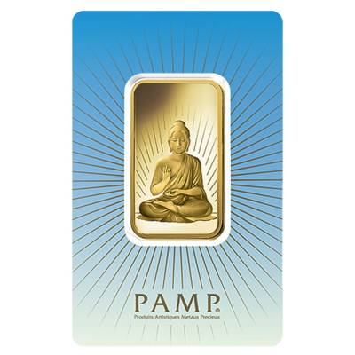 Box of 25 - 1 oz PAMP Suisse Gold Bar - Buddha (in Assay) .9999 Fine