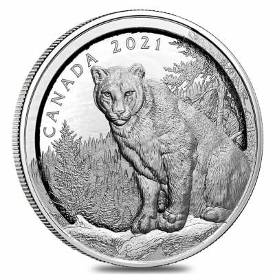 2021 Canada 3.4 oz Multilayered Cougar Proof Silver Coin .9999 Fine (w/Box & COA)