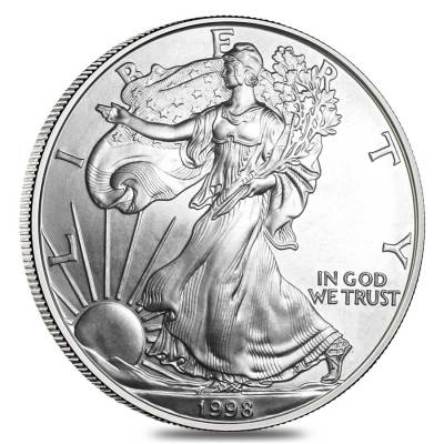 Roll of 20 - 1998 1 oz Silver Eagle Brilliant Uncirculated (Lot,Tube of 20)