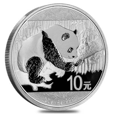 Sheet of 15 - 2016 30 gram Chinese Silver Panda 10 Yuan .999 Fine BU (Lot, Roll of 15)