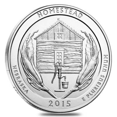 2015 5 oz America the Beautiful ATB Silver Homestead National Park Coin