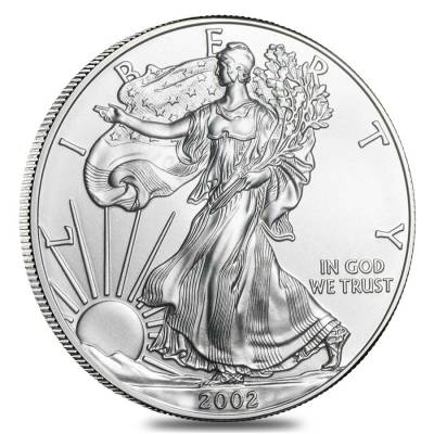 Roll of 20 - 2002 1 oz Silver Eagle Brilliant Uncirculated (Lot,Tube of 20)