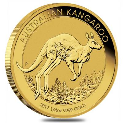 2017 1/4 oz Australian Gold Kangaroo Perth Mint Coin .9999 Fine BU (In Capsule)