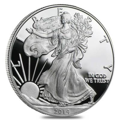 2014-W 1 oz Proof Silver American Eagle (w/Box & COA)