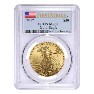 2017 1 oz Gold American Eagle PCGS MS 69 First Strike