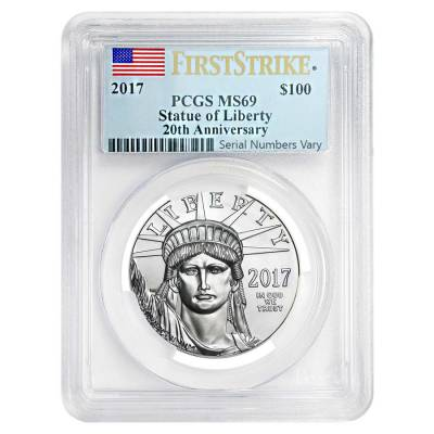 2017 1 oz Platinum American Eagle PCGS MS 69 First Strike