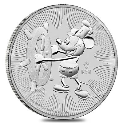 2017 1 oz Niue Silver $2 Disney Steamboat Willie NGC MS 69 Early Releases