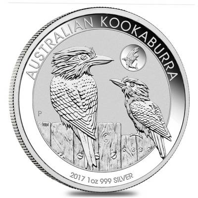 2017 1 oz Silver Australian Kookaburra Shark Privy Perth Mint PCGS MS 70 First Strike