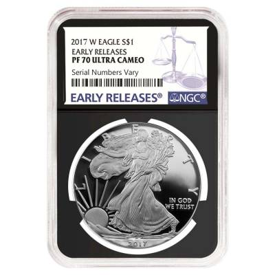 2017-W 1 oz Proof Silver American Eagle NGC PF 70 UCAM Early Releases (Retro)