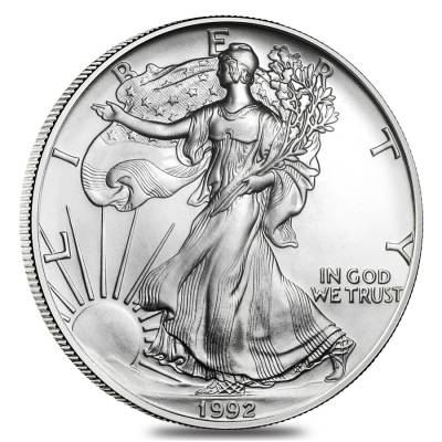1992 1 oz Silver American Eagle $1 Coin