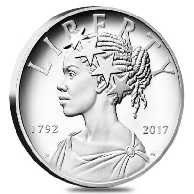2017 P 1 oz American Liberty High Relief Proof Silver Medal (w/Box and COA) - US Mint 225th Anniversary