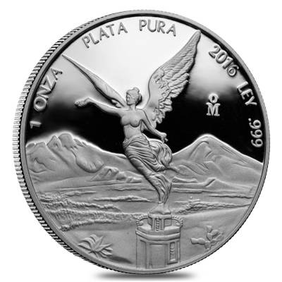 2016 1 oz Mexican Silver Libertad Coin .999 Fine Proof (In Cap)