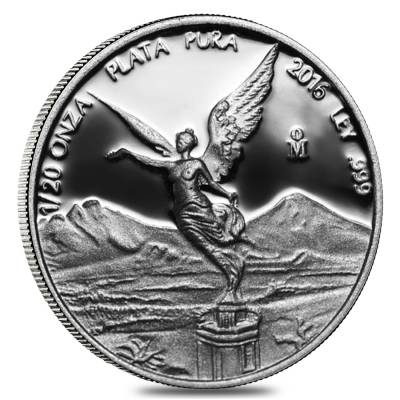 2016 1/20 oz Mexican Silver Libertad Coin .999 Fine Proof (In Cap)
