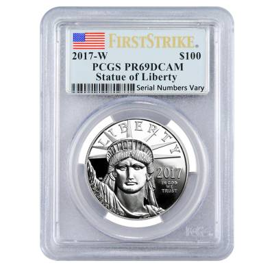 2017-W 1 oz Platinum American Eagle Proof Coin PCGS PF 69 DCAM First Strike - 20th Anniversary