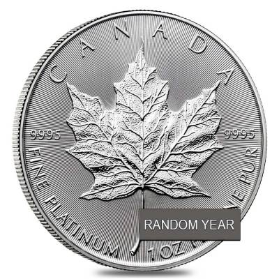 1 oz Platinum Canadian Maple Leaf Coin (Random Year)