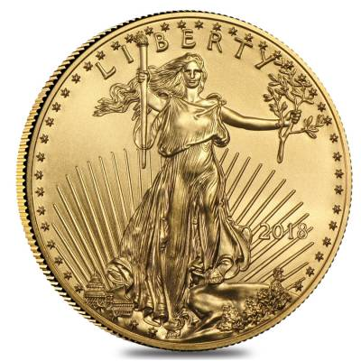 2018 1/4 oz Gold American Eagle $10 Coin BU