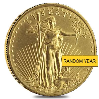 1/4 oz Gold American Eagle Abrasions (Random Year)