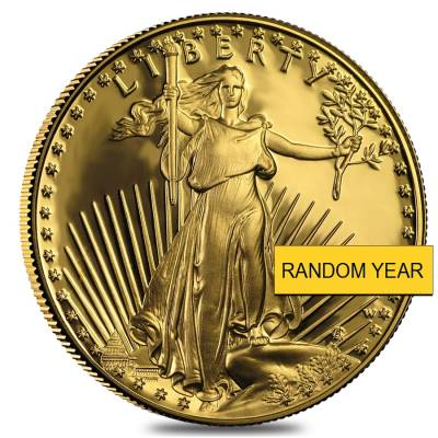 1 oz Gold American Eagle $50 Coin Proof In Cap (Random Year)