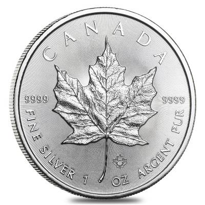 2018 1 oz Silver Canadian Maple Leaf .9999 Fine $5 Coin BU