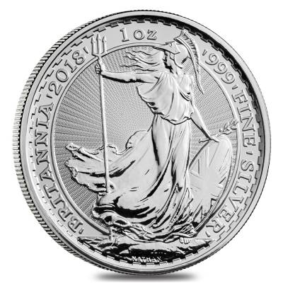 2018 Great Britain 1 oz Silver Britannia Coin .999 Fine BU