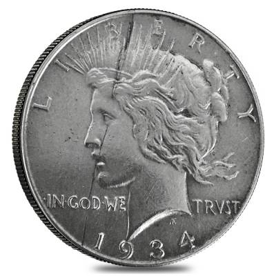 1934 Silver Peace Dollar XF
