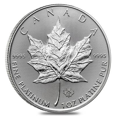 2018 1 oz Platinum Canadian Maple Leaf Coin $50 .9995 Fine BU