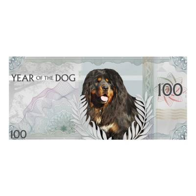 2018 5 Gram Mongolia Lunar Year of the Dog Silver Note .999 Fine