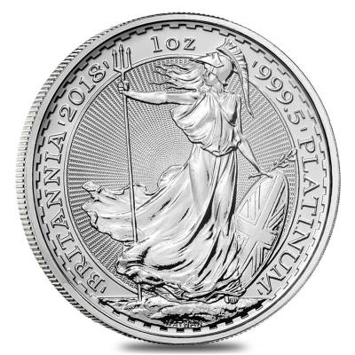 2018 Great Britain 1 oz Platinum Britannia Coin .9995 Fine BU