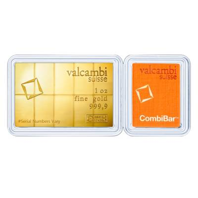 10 x 1/10 oz Gold Valcambi CombiBar .9999 Fine (In Assay)